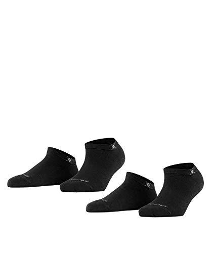 Burlington Everyday Sneaker Double Pack Calcetines, Negro (Black 3000), 4/7/2019 (Talla del Fabricante: 36-41) 2 para Mujer