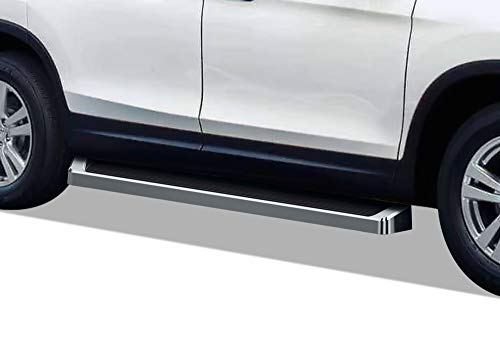 APS iBoard (Silver Running Board Style) Running Boards Nerf Bars Side Steps Step Rails Compatible with Pilot 2016-2021