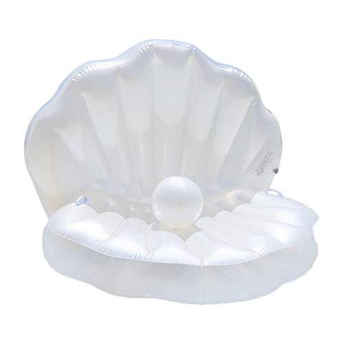 Zattera galleggiante piscina gonfiabile, di buona qualità Capesante gigante confortevole Gommone per piscina gonfiabile Coperta materasso Gonfiabile Letto galleggiante gonfiabile con manico e perla