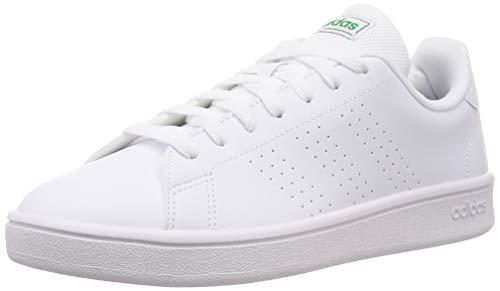 Adidas Advantage Base Zapatillas para Hombre Clasicas (42 EU, Blanco-Verde)