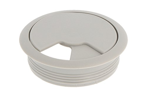 MS Beschläge® Kabeldurchlass Kabelkanal Grau aus Kunststoff mit Durchmesser 60mm (1)