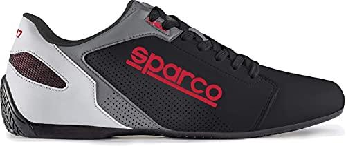 Sparco S00126344NRRS Zapatillas SL-17 Talla 44 Negro Rojo