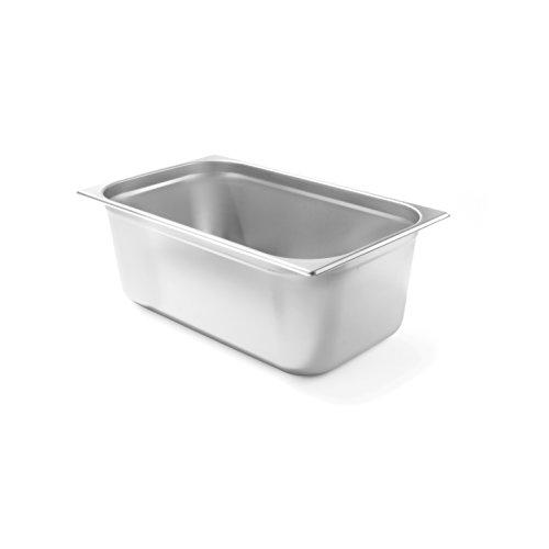 HENDI Gastronormbehälter, Temperaturbeständig von -40° bis 300°C, Heissluftöfen-Kühl- und Tiefkühlschränken-Chafing Dishes-Bain Marie, 28L, GN 1/1, 530x325x(H)200mm, Edelstahl
