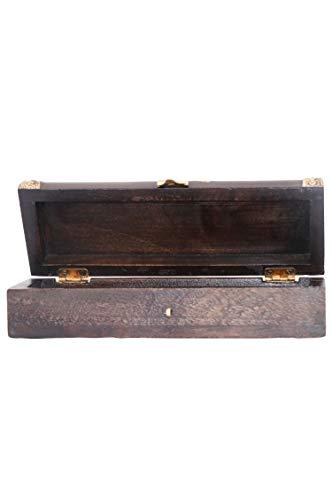 Orientalische kleine Aufbewahrungsbox mit Deckel Bindu 23cm groß | Orientalischer Schmuckkästchen für Mädchen und Damen zur Schmuckaufbewahrung | Marokkanische Schatulle Box aus Holz - 4