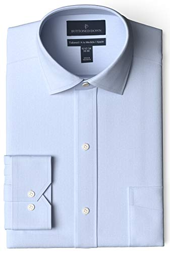 "Marque Amazon - Buttoned Down Chemise à col étendu sans Repassage dress-shirts, Bleu Ciel, 16"" Neck 34"" Sleeve"