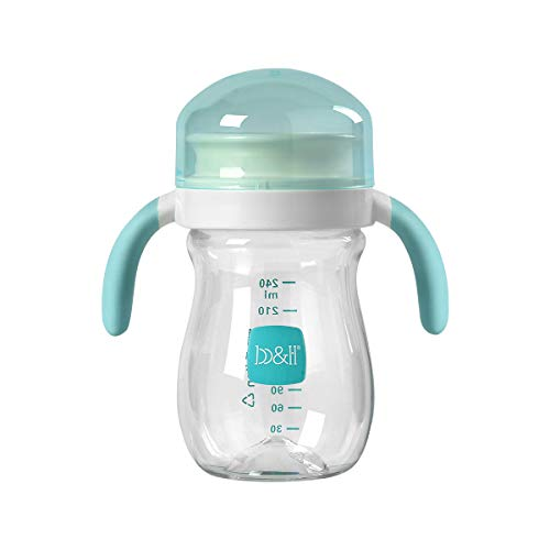 360 Cups for Toddlers,Baby Transition Sippy Cup Spill Proof Spoutless Cup with Handles,8 Ounce