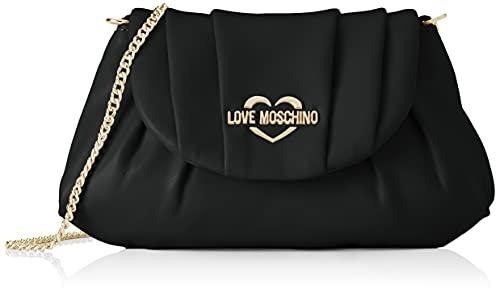 Love Moschino Pre Collezione Autunno Inverno Bolso de Hombro para Mujer, colección otoño-Invierno 2021, Negro, Talla única