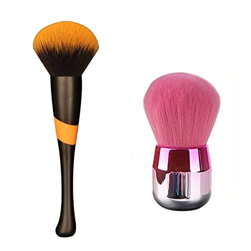 WLYX Maquillage Curve brosse poignée Poudre for le visage Brosses Fluffy multifonctions pinceau de maquillage femme Outils cosmétiques pratique Noir
