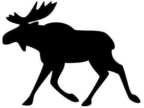 Adesivo per auto con renna e alce di colore nero