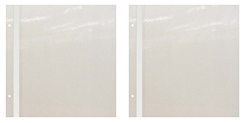 Pioneer Photo Albums Pioneer PMV 5 Sheet / 10 Page Refill Pack for PMV-206 Magnetic Albums - TWO PACK, white,