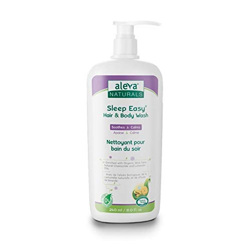Aleva Naturals Sleep Easy Hair and Body Wash | For Babies and Toddlers- Gentle on Eyes, Lavender, 8.0 Fl Oz, (Pack of 1)