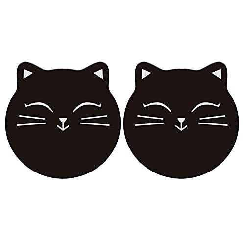SH-RuiDu 2 sottobicchieri per bevande diatomite a forma di gatto sottobicchieri assorbenti acqua resistenti al calore sottobicchieri per cucina bar caffè
