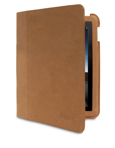 iHome Genuine Suede Fit Case for iPad 2 - Brown (IH-IP1101Z)