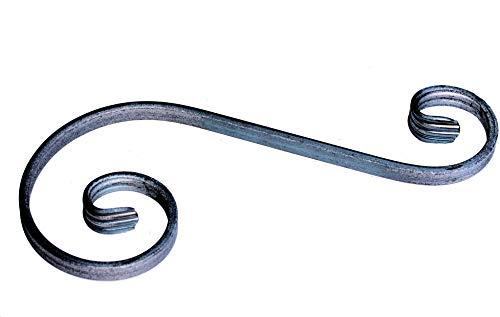 UHRIG ® S Schnörkel Bogen schmiedeeisen 12x6mm Zierelement Stahl Eisen für Zaun Geländer (300x120mm)