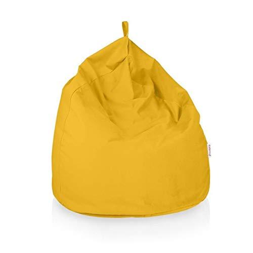 Italpouf Pouf Sacco Gigante XXL 100 Ø x 130 cm Pouf Sacco Morbido Tessuto Microfibra! Pouf Sacco Sfoderabile! Puff Sacco Imbottito! Poltrona Sacco 19 Colori (Pouf Sacco Gigante XXL, Giallo)
