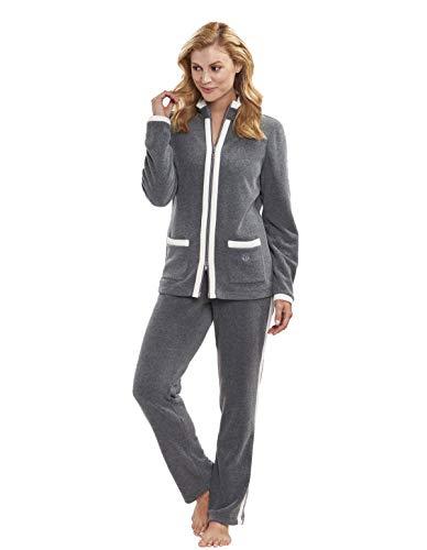Féraud Damen 3883158 Modern Essentials Zweiteiliger Schlafanzug, Grau (Heather Dark Grey 11899), 46