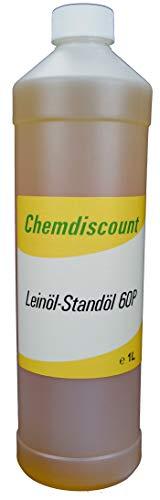 1Liter Leinöl Standöl 60P (gekochtes Leinöl, Bennebroeker Öl, polymerisiertes Leinöl), versandkostenfrei!