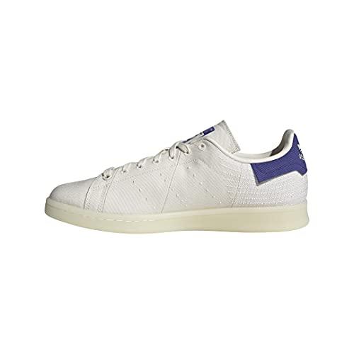 adidas Originals Tênis masculino Stan Smith (End Plastic Waste), Giz branco/Semi Night Flash/Branco, 10.5