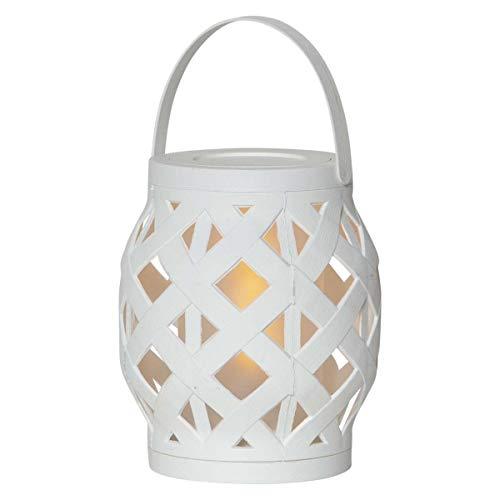 Garden Lantern Flame M White Fire Effect & Timer