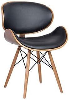 椅子【Bulcino/ブルチーノ】 チェア PCチェア オフィスチェア パーソナルチェア ミッドセンチュリー レトロなカフェスタイルチェア (ブラック)
