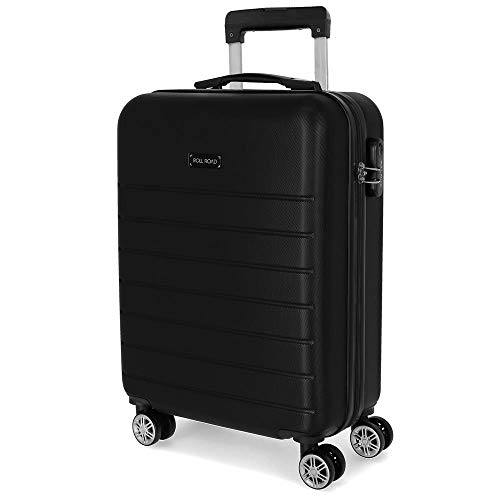 Roll Road Magazine Black Hardside Carry-On Suitcase