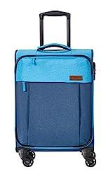 Travelite Leichtes lässiges Surferlook Trolley Koffer 55 cm, 32 L, Marine/Blau