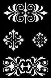Pochoir adhésif - Galon baroque - 12x18 cm - Ki-Sign