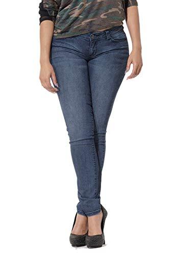 Poetic Justice Women's Curvy Fit Blue Denim Five Pockets Midrise Skinny Jeans Size 31X30