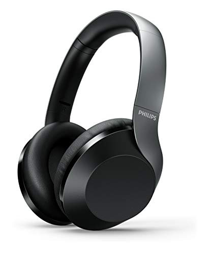 Philips Over Ear PH805BK/00 Cuffie auricolari (Bluetooth, Active Noise Cancelling, 30 ore durata della batteria, audio Hi-Res, microfono, Google Assistant) nero