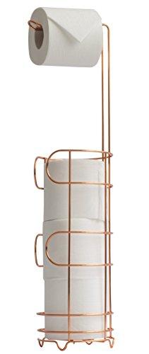 simplywire vrij staand koper wc rolhouder – badkamer Tissue papier opslag unit, anti-roest