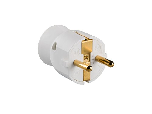 legrand 050187 Enchufe con Cabezal Móvil Orientable, 3680 W, 230 V, Blanco