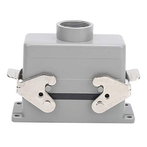 Bloque de terminales de puerto, conectores de trabajo pesado impermeables de doble hebilla de 16 núcleos Enchufe de aviación Bloques de terminales de engarzado de tornillo industrial