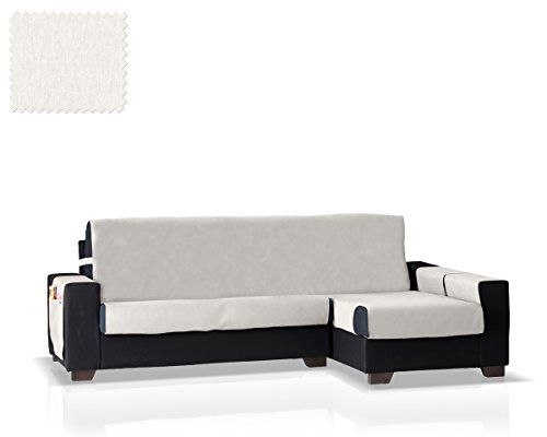 Funda de sofá Chaise Longue Larissa Brazo Derecho (Marfil, pequeño - 200 Cm.)