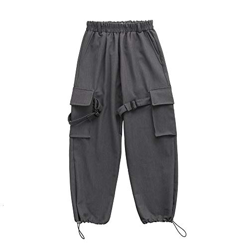 TUOP Heren Verdikte Velvet Harem Broek Casual Broek Cargo Pocket Broek Actieve Stretch Hip-hop Jogger Sweatpants
