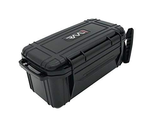 RAAM Cigar Travel Humidor, Crush-Proof Air Tight Portable Humidifier for Cigars (Black, Single Clamp)