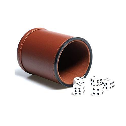 Dice Cup Pot à dés en similicuir avec intérieur en velours,
