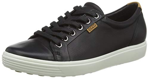 Ecco Damen SOFT7W Sneakers, Schwarz (BLACK 1001), 42 EU
