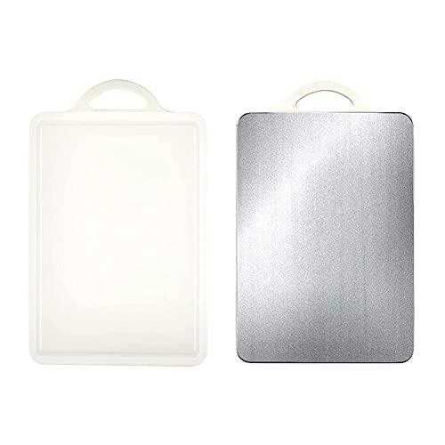 MNSSRN Tabla de Corte de tamaño Grande para el hogar, plástico Multifuncional Espesado de plástico de Acero Inoxidable de Acero Inoxidable para Masa de Corte de Frutas