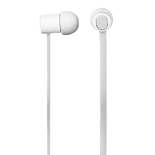 Hama In-Ear-Headset Pro, Flachbandkabel, 3,5 mm Klinkenstecker, Vollmetallgehäuse, passive Geräuschunterdrückung, weiß