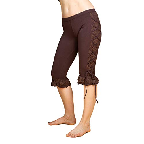 PANASIAM goa Psytrance Leggings 'Sati', alternatief hippie dameslegging 31/10 4, uit Nepal, effen in S, M & L