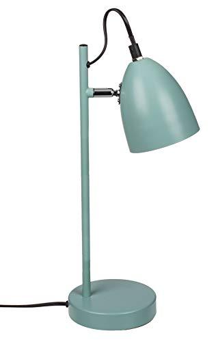 Lámpara de mesa de metal estilo retro E14, 37 cm (verde menta)