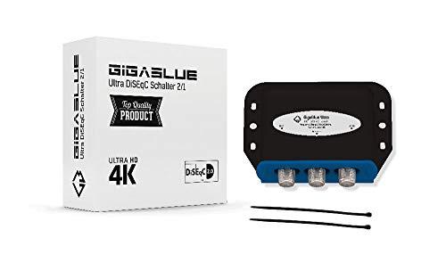 1x DiseqC Schalter Switch 2/1 mit Wetterschutzgehäuse GigaBlue Ultra DiSEqC Schalter 2X SAT LNB 1 x Teilnehmer/Receiver für Full HDTV 3D 4K UHD + 3 x F-Stecker 2X Kabelbinder …