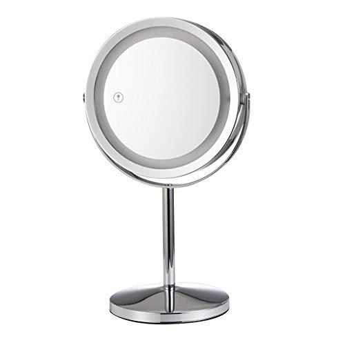 BIKEX Desktop Vergrootglas Met Lamp Cosmetische Spiegel LED Licht 360 ° Draaiende Tafel Vanity Spiegel Multifold Dubbele Zijde Tafel Spiegel