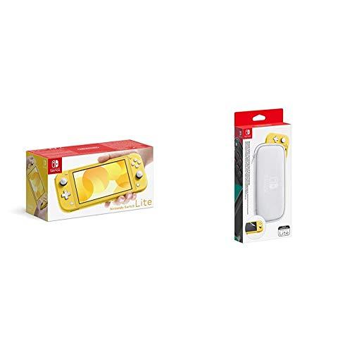 Console Nintendo Switch Lite - Jaune & Pochette de Transport/Protection d'Ecran pour Nintendo Switch Lite
