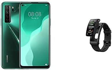 هاتف هواوي نوفا 7 SE 5G الذكي، ذاكرة 128 جيجابايت 8 جيجا رام اللون اخضر و سوار هواوي الذكي توكباند B6 اللون اسود