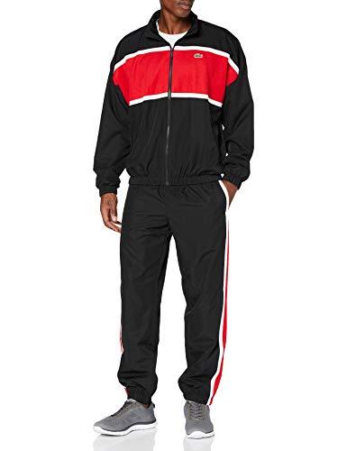 Lacoste Herren Wh1572 Trainingshose, Noir/Rouge-Blanc, S