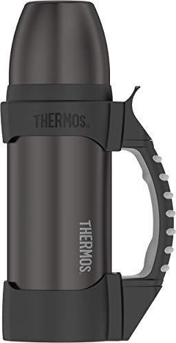 Thermos Work Series Stainless Water Bottle, 1.1 Quart, Gun Metal