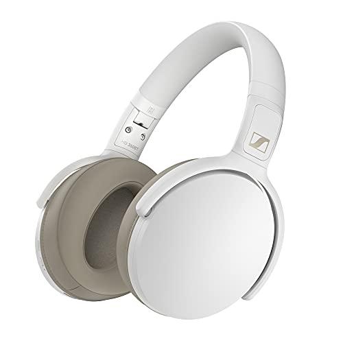 Sennheiser HD 350BT Bluetooth 5.0 Wireless Headphone – 30-Hour Battery Life, USB-C Fast Charging, Virtual Assistant Button, Foldable – White (HD 350BT White)