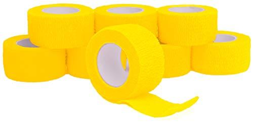 Fingerverband, Fingerpflaster, Selbsthaftende Fingerbandagen, Pflaster 2,5 cm breit, gelb - 8 Stück