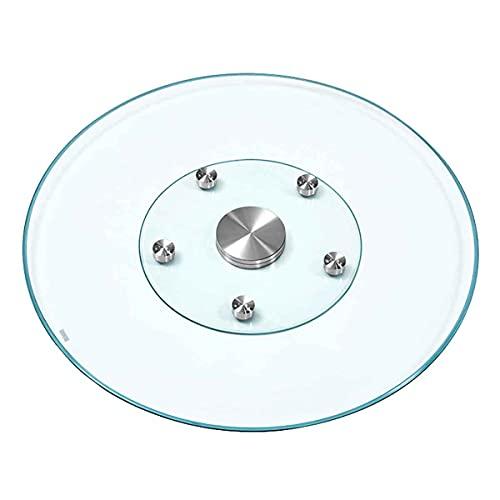 STEPPE Mesa Giratoria Vidrio Templado A Prueba De Explosiones 0.4in,Discos Transparentes,para Mesa De Comedor De Cocina